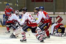 Z hokejového utkání I. hokejové ligy HC Chrudim - Ostrava Poruba 1:3.