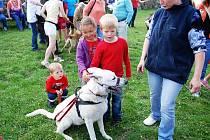 Kynologický klub z Heřmanova Městce představil návštěvníkům hradu Lichnice ukázky ze své činnosti a výcviku psů.