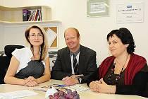 Ředitelka Centra sociálních služeb a pomoci Chrudim (CSSP) Hana Pilná (na snímku vlevo).