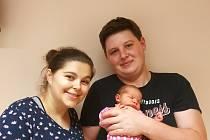 Rozárka Paulusová (3,16 kg a 49 cm); 12.12. v 10:35; rodiče Radka a Richard; Bojanov