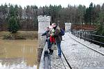 Situace na řece Doubravě a na Pařížovské přehradě o víkendu 15. a 16. ledna 2011.