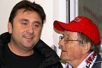 Generální manažer HC Chrudim  Petr Tankos(vlevo).