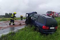 Vážná dopravní nehoda u Medlešic