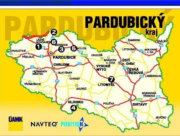 Omezení silniční dopravy vPardubickém kraji.