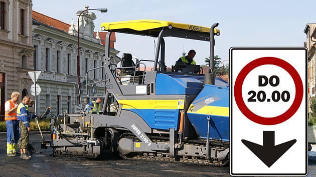 Ještě do nedělních 20 hodin bude pokračovat uzávěrka okružní křižovatky Na Bídě v Chrudimi.