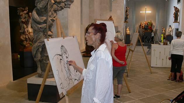 Letní výtvarný ateliér v Muzeu barokních soch.