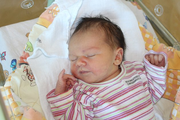Bára Štěrbová (3 kg a 49 cm) je po šestileté Elišce druhou dcerkou v rodině Aleny a Petra Štěrbových z Ochozi.