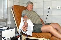 Miroslav Šimon absolvoval stý odběr krve.