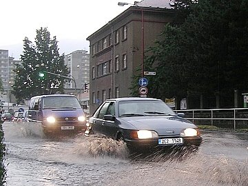 Palackého ulice v Chrudimi.