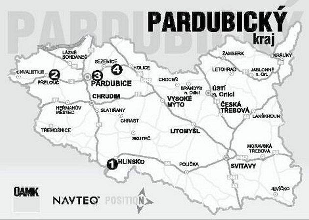 Uzavírky vPardubickém kraji.