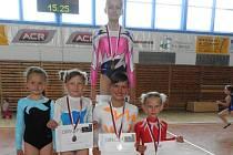 Chrudimské sportovní gymnastky na oblastních přeborech opět zářily.