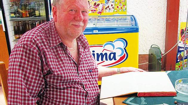 Majitel motorestu Bonet ve Slatiňanech Bohumil Netolický