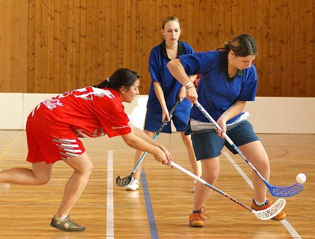 U příležitosti oslav  výročí založení SOŠ a SOU obchodu a služeb v Chrudimi se konal florbalový turnaj dívek.