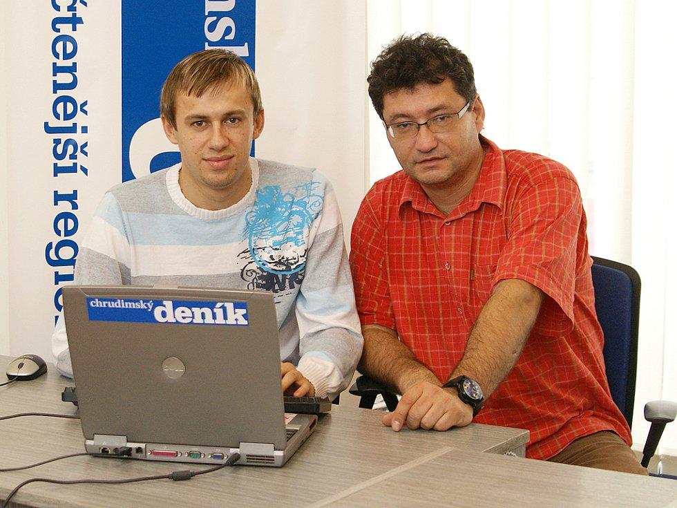 Ota Stejskal a Lukáš Rešetář při online rozhovoru.