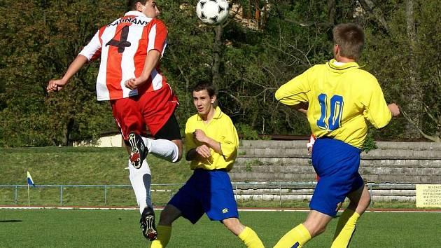 Z utkání Slatiňany proti AFK Chrudim B