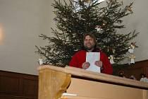 Vánoční mše v Hradišti u Nasavrk.