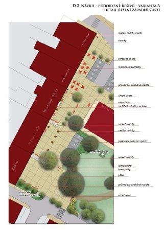 Studie revitalizace ronovského náměstí.