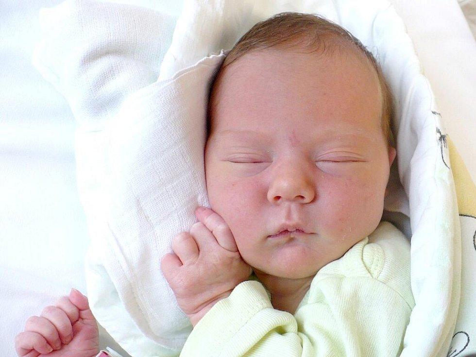 PETRA BRYNDOVÁ. Martina a Václav z Chotěnic se stali rodiči prvně 12. srpna ve 12:07, kdy se jim narodila dcerka vážící 3,2 kilogramu a měřící 49 centimetrů.