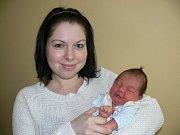 PETR VÍŠEK (3,16 kg a 49 cm) je od 9.1. od 7:52 jméno prvního miminka Ilony a Pavla Víškových ze Slatiňan.