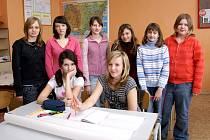 Žáci osmé třídy ze Základní školy Třemošnice.