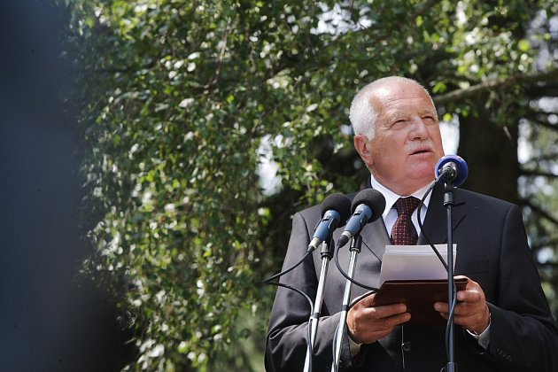 Proslov prezidenta republiky Václava Klause.