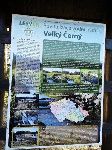 Někdejší rybník Velký černý.