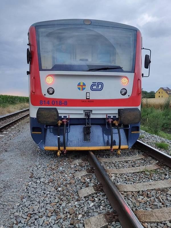 V Medlešicích vykolejil vlak, nikomu se nic nestalo