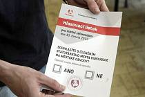 Hlasovací lístky dostali občané až ve volební místnosti.