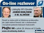 Největší hokejový sympaťák Tomáš Bláha odpovídá on-line čtenářům Chrudimského deníku.