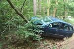 Osobní automobil sjel v Rabštejnské Lhotě ze silnice a narazil do stromu.