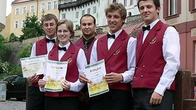 Studenti Hotelové školy v Chrudimi.