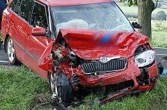 ŠOFÉR CITROENU ZEMŘEL. Nehoda se stala přesně na vrcholu kopce mezi Kočím a Chrudimí
