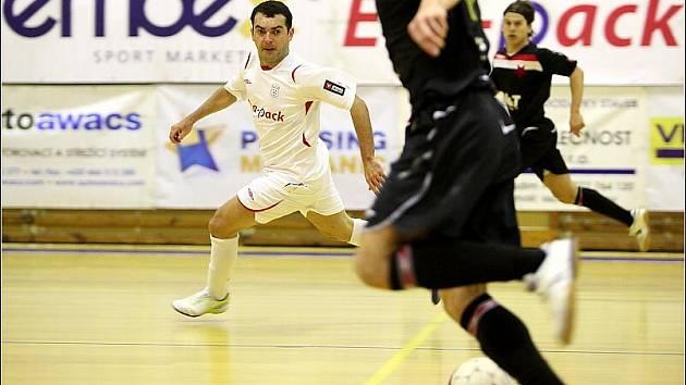 Z prvního utkání čtvrtfinálové série play off Jetbull futsal ligy: Era-Pack Chrudim - Slavia Praha 5:0.