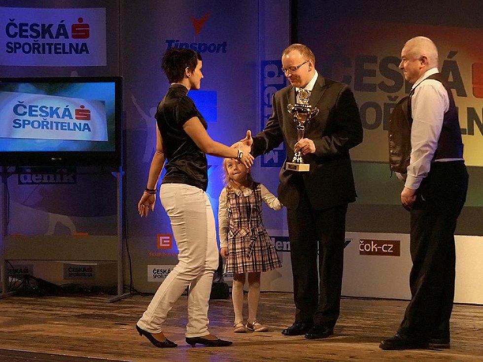 Druhé místo v kategorii jednoltivců dospělých pro házenkářku Štěpánku Bonaventurovou.