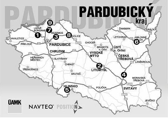 Omezení dopravy na silnicích Pardubického kraje.