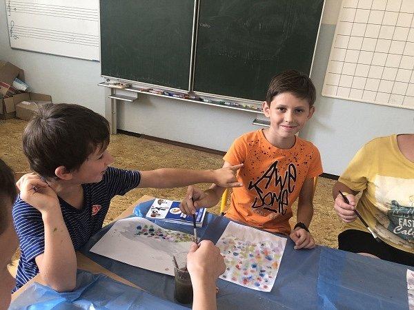 Program pro děti v Mikulčicích.