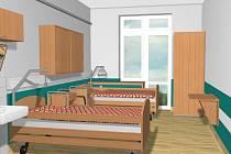 Vizualizace pokoje pro pacienty