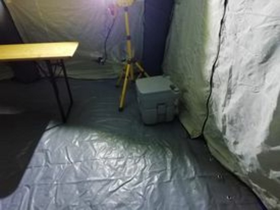 Stan, který by případně posloužil pro izolaci nakažených bezdomovců.