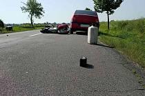 Nehoda skončila zraněním.