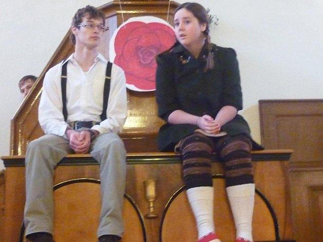 Farnost pod vedením farářů Českobratrské církve evangelické v Hradišti u Nasavrk zorganizovala divadelní představení Sněhová královna.