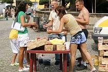 Resselovo náměstí patřilo trhům.