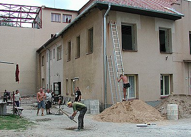 Rekonstrukce školy v Trhové Kamenici.