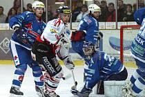 Z utkání I. hokejové ligy HC Chrudim - Beroun 4:2.