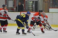 Předposlední kolo krajské hokejové ligy