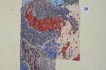 Fragment starých fresek v prosečské Sokolvoně.