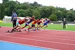 Východočeské atletické turné na Letním stadionu v Chrudimi: Běh mužů na 60 metrů.