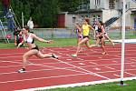 Východočeské atletické turné na Letním stadionu v Chrudimi: Běh žen na 60 metrů.