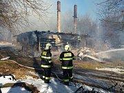 Požár bývalé hájenky na Posekanci