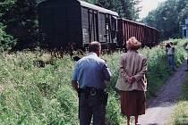Z rekonstrukce tragické srážky osobního a nákladního vlaku v Krouně, při které 24. června 1995 zahynulo devatenáct lidí.
