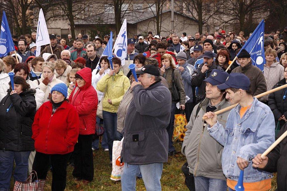 Demonstrace zaměstnanců